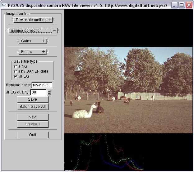 PV2  RAW file viewer / converter